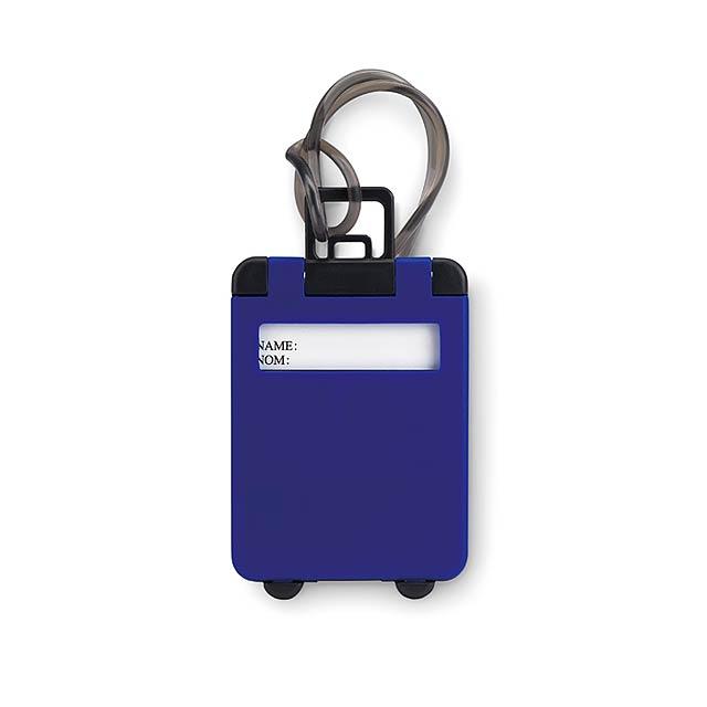 Luggage tags plastic  - royal blue