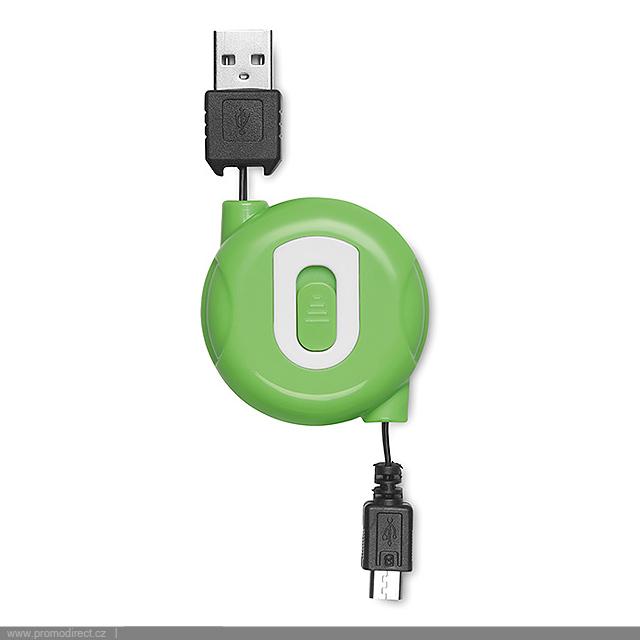 Navíjecí micro USB kabel - COMPACTMICRO - citrónová - limetková