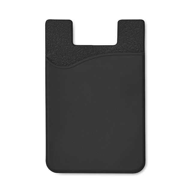 Silikonový držák na karty - SILICARD - černá