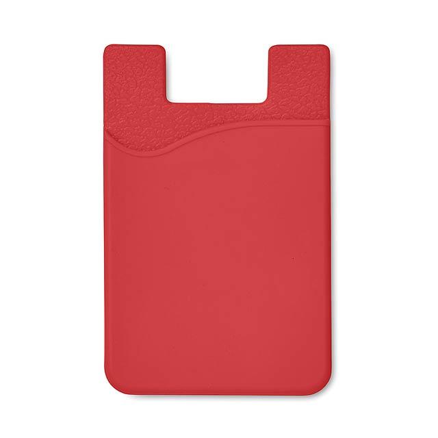 Silikonový držák na karty - SILICARD - červená