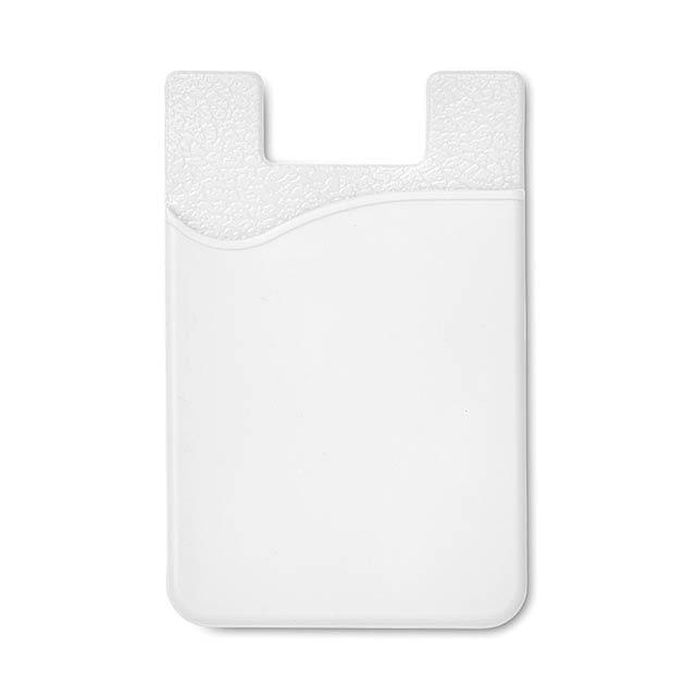 Silikonový držák na karty - SILICARD - bílá