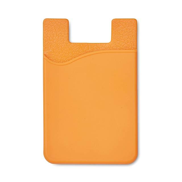 Silikonový držák na karty - SILICARD - oranžová