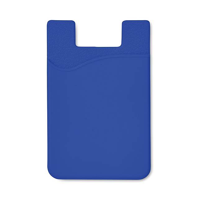 Silikonový držák na karty - SILICARD - královsky modrá