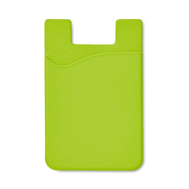 Silikonový držák na karty - SILICARD - citrónová - limetková