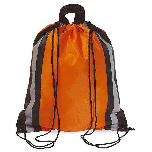 Reflexní batoh se šňůrkami - GLITTERBAG - oranžová