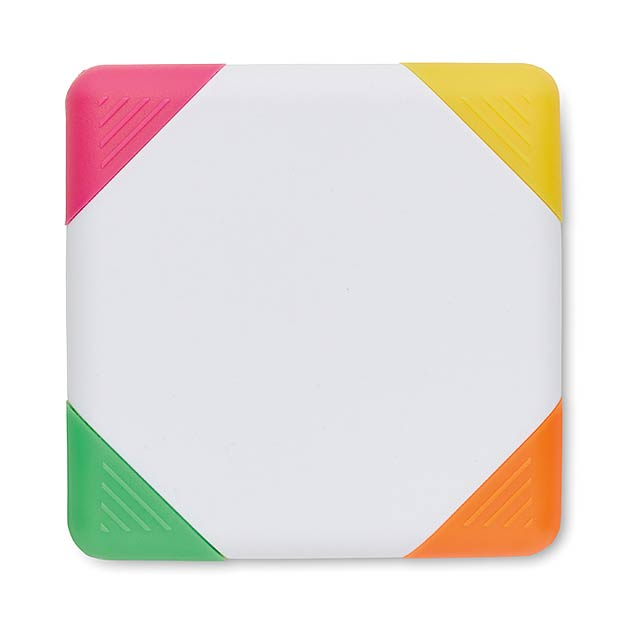 Quadratisch geformten Highlighter - Weiß