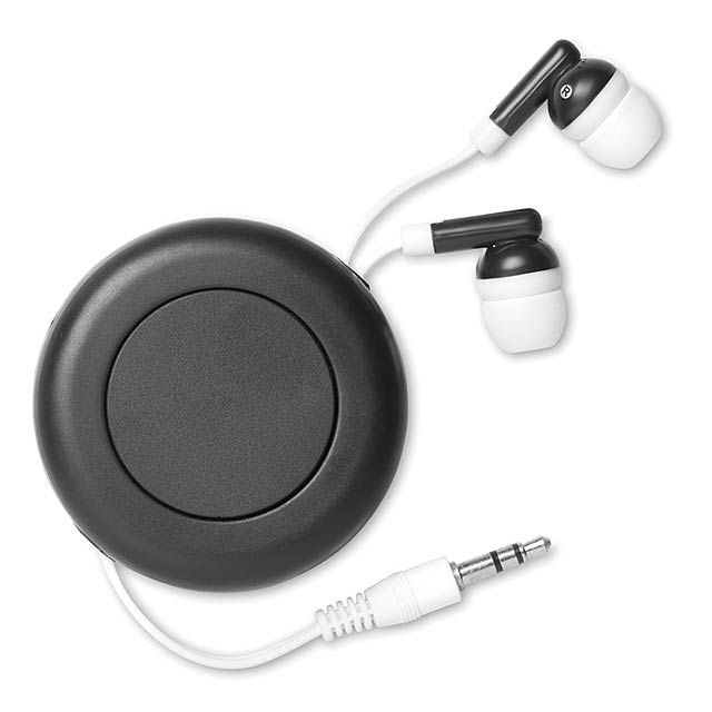 Navíjacie slúchadlá - Sonido - čierna