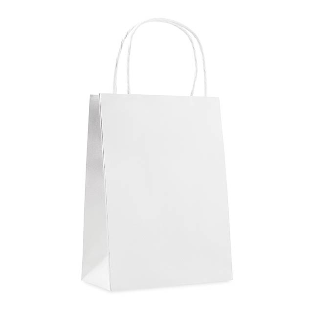 Gift paper bag small size      MO8807-06 - white