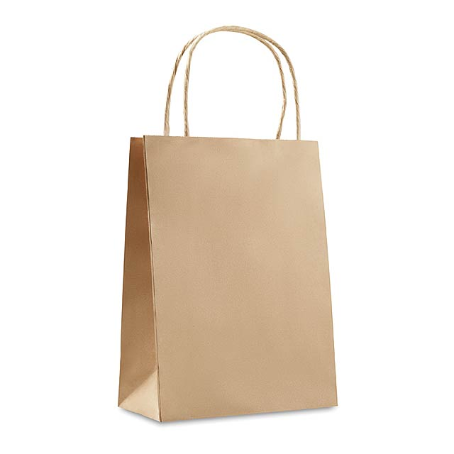 Gift paper bag small size  - beige