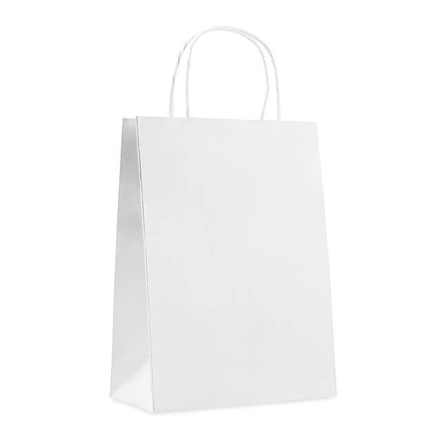 Střední dárková taška - PAPER MEDIUM - bílá