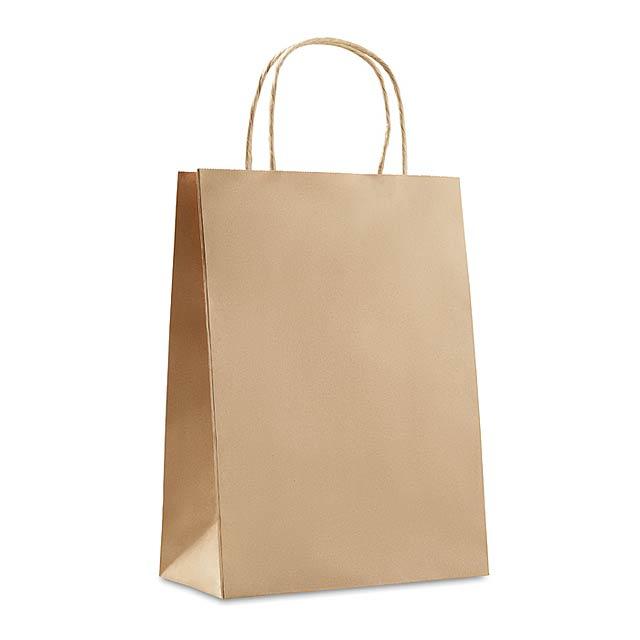 Střední dírková taška - PAPER MEDIUM - béžová
