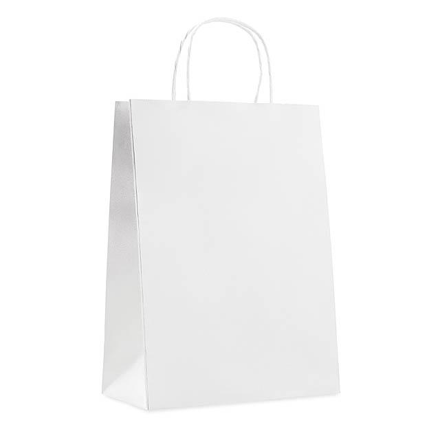 Velká dárková taška - PAPER LARGE - bílá