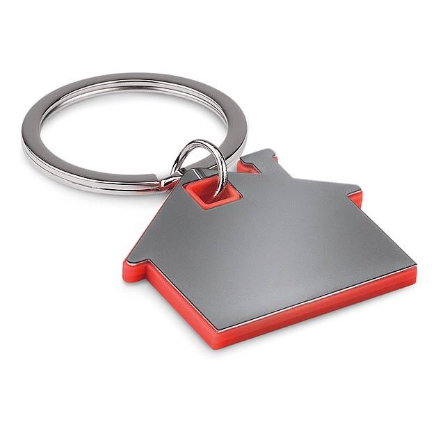 Přívěšek ve tvaru domu        - červená