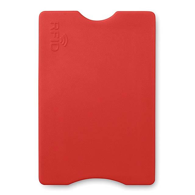 RFID obal na platební kartu   - červená