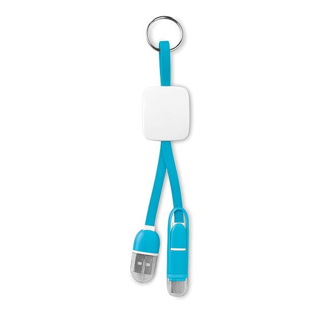 Klíčenka s USB typu C - KEY RING C - tyrkysová