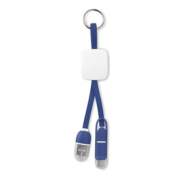 Klíčenka s USB typu C - KEY RING C - královsky modrá