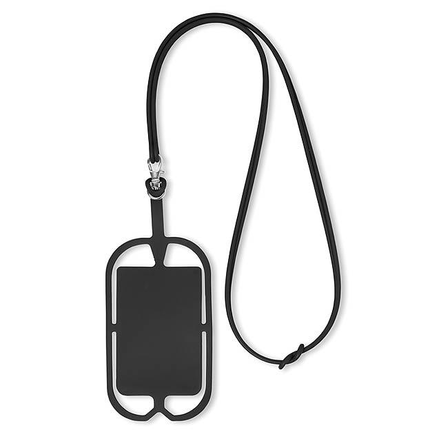 Silikonové pouzdro na telefon - SILIHANGER - černá