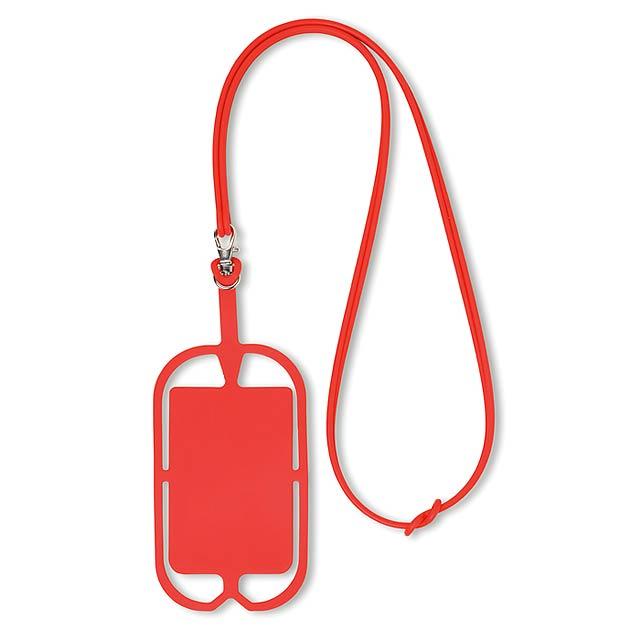 Silikonové pouzdro na telefon - SILIHANGER - červená
