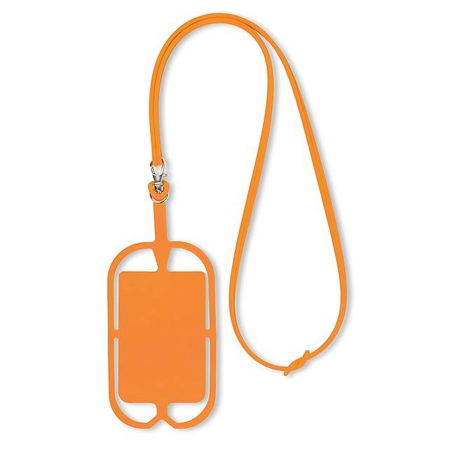 Silikonové pouzdro na telefon - SILIHANGER - oranžová