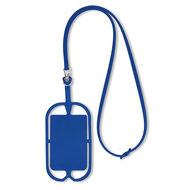 Silikonové pouzdro na telefon - SILIHANGER - královsky modrá