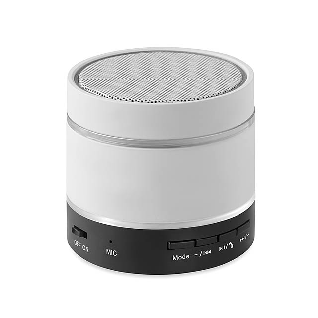 Bluetooth reproduktor - Round Light - bílá