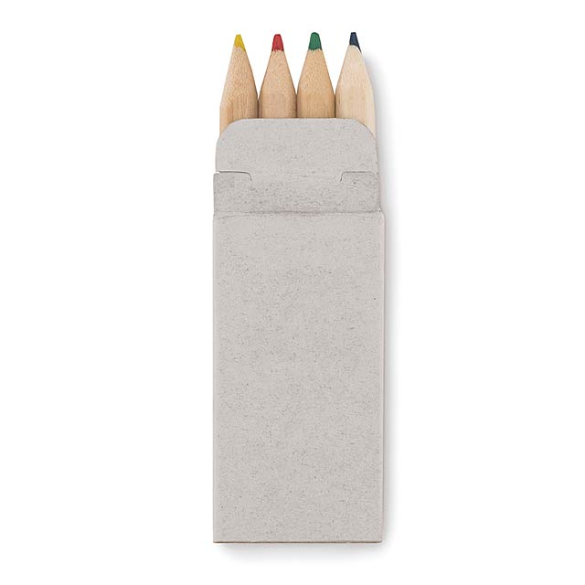 4 mini coloured pencils - PETIT ABIGAIL - Beige