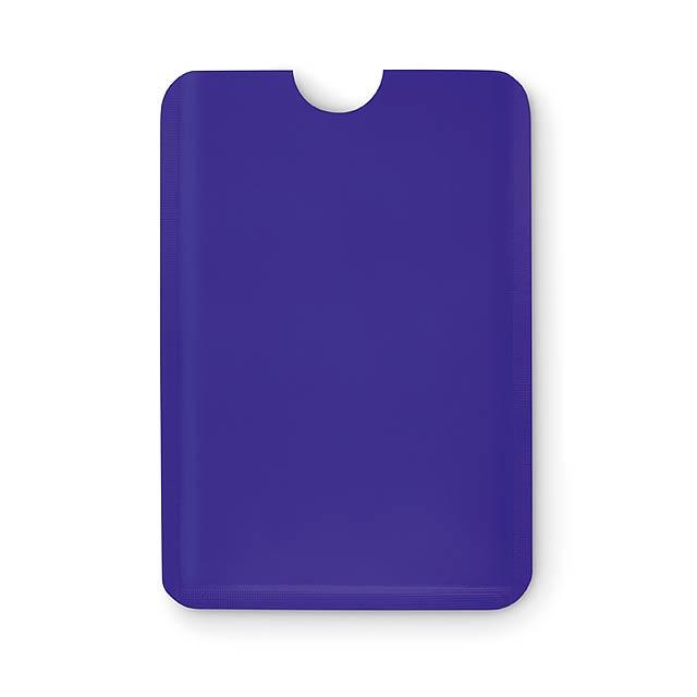 Jednoduchý plastový RFID ochránce kreditních karet. - modrá