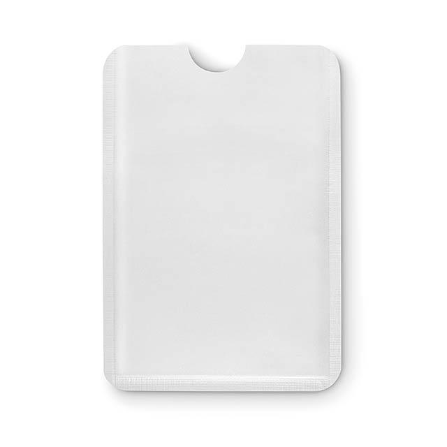 Jednoduchý plastový RFID ochránce kreditních karet. - biela