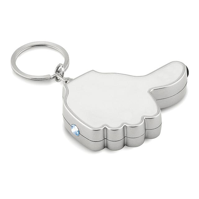 Přívěsek na klíče - palec - GIOIA - bílá