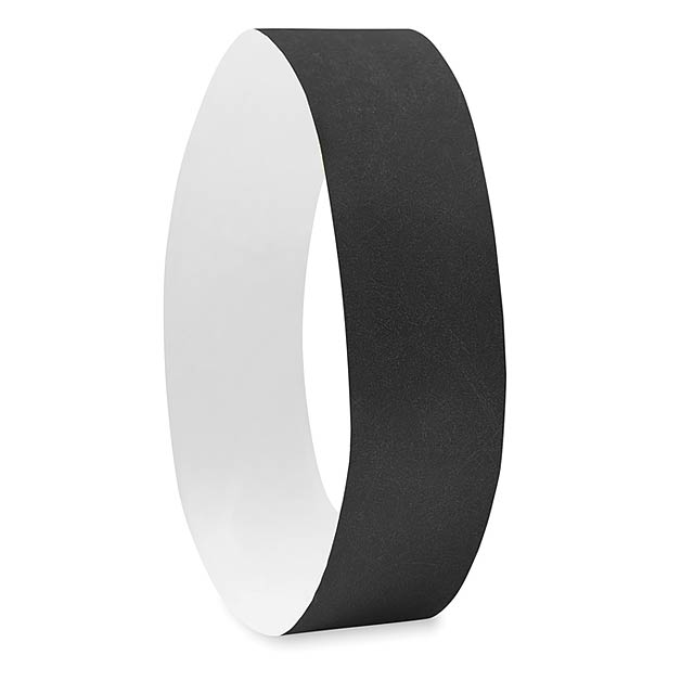 One sheet of 10 wristbands - TYVEK# - black