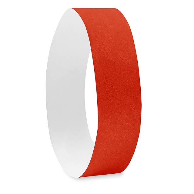 One sheet of 10 wristbands - TYVEK# - red
