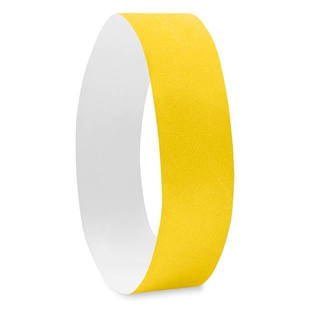 Náramek pro účastníky akcí -TYVEK# - žlutá