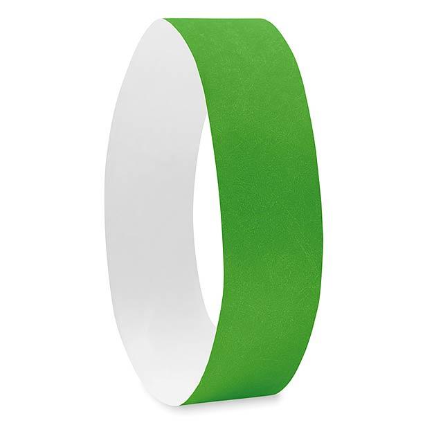 Náramek pro účastníky akcí -TYVEK# - zelená