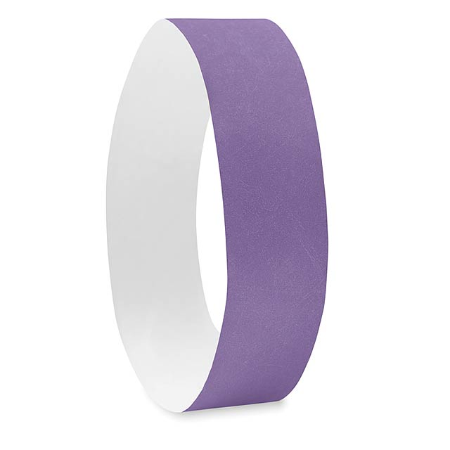 One sheet of 10 wristbands MO8942-21 - TYVEK# - violet