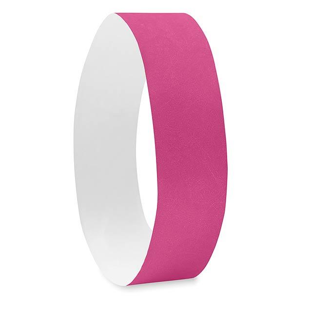 One sheet of 10 wristbands - TYVEK - fuchsia