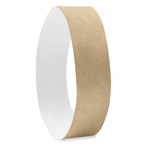 One sheet of 10 wristbands MO8942-98 - TYVEK# - gold