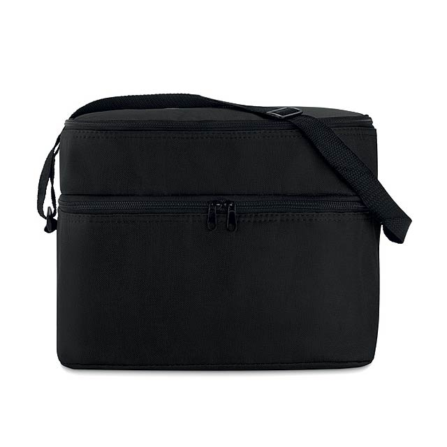 Cooler bag with 2 compartments MO8949-03 - black