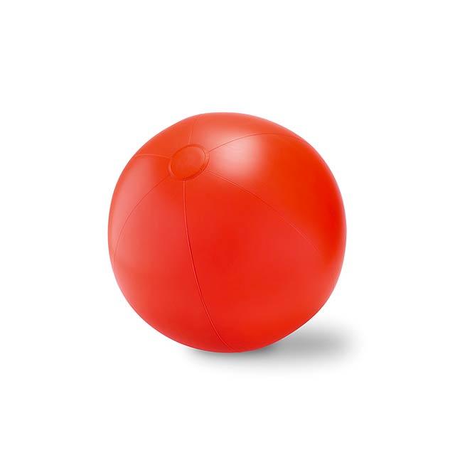 Velký nafukovací plážový balon - PLAY - červená