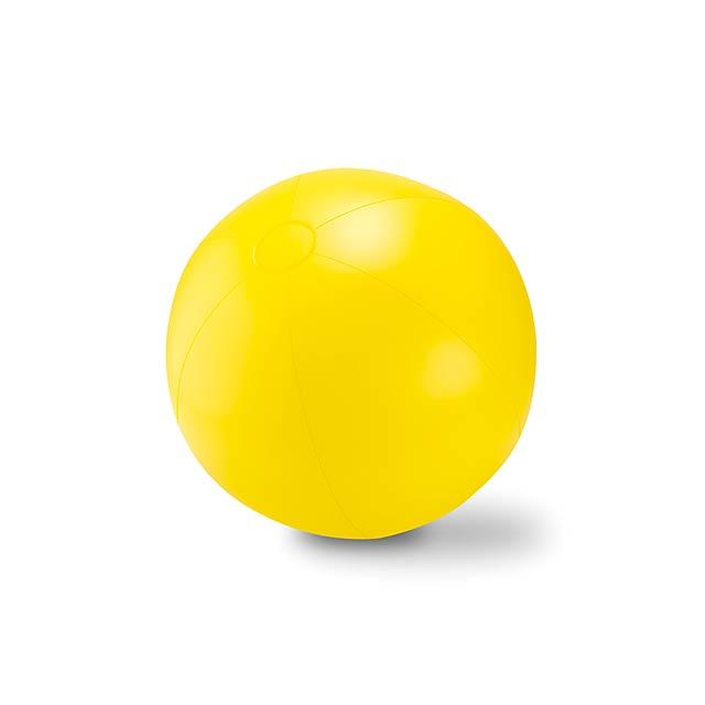 Velký nafukovací plážový balon - PLAY - žlutá