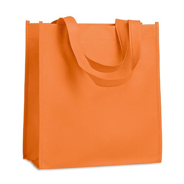 Netkaná nákupní taška - APO BAG - oranžová