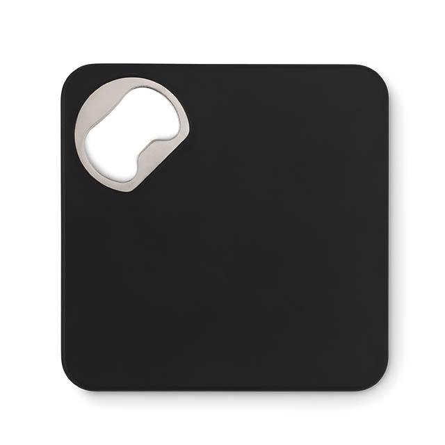 Squared bottle opener - PIATTO - schwarz