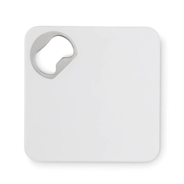 Squared bottle opener - PIATTO - Weiß
