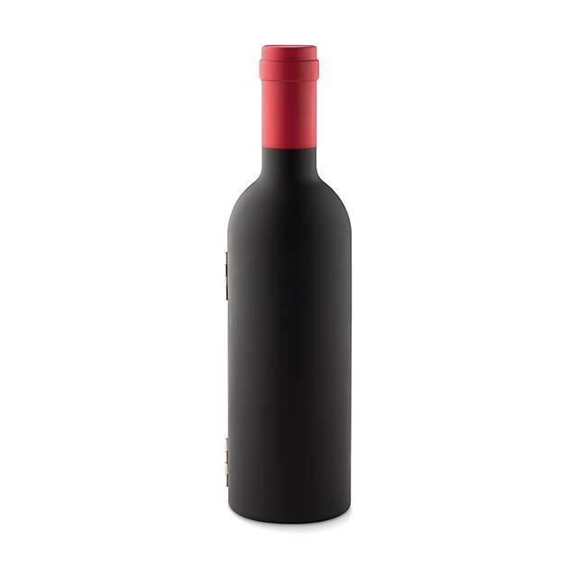 Sada na víno ve tvaru lahve- SETTIE - černá