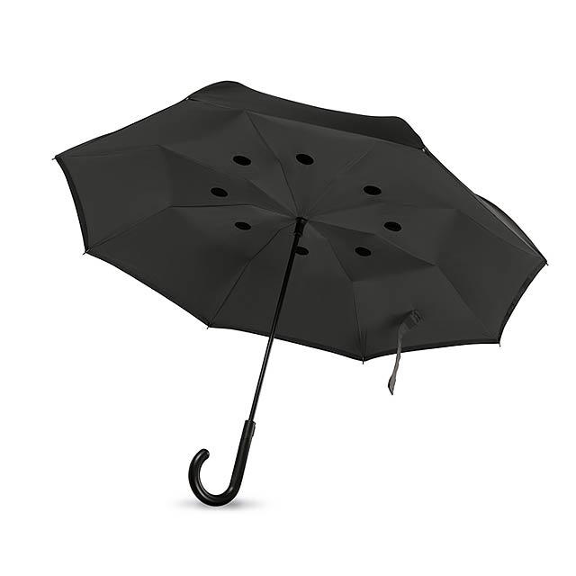 Reversible umbrella - DUNDEE - černá