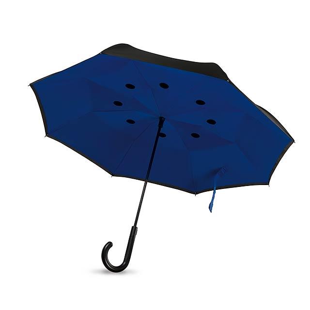 Oboustranný deštník- DUNDEE - královsky modrá