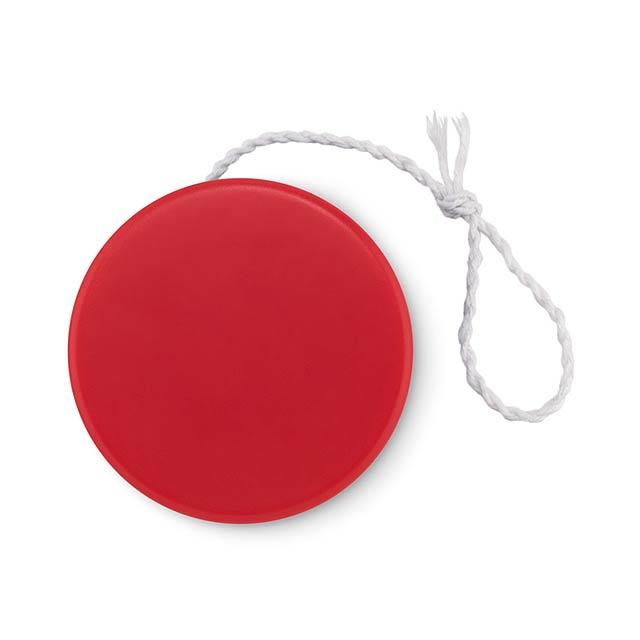 Plastic yoyo - FLATYO - red