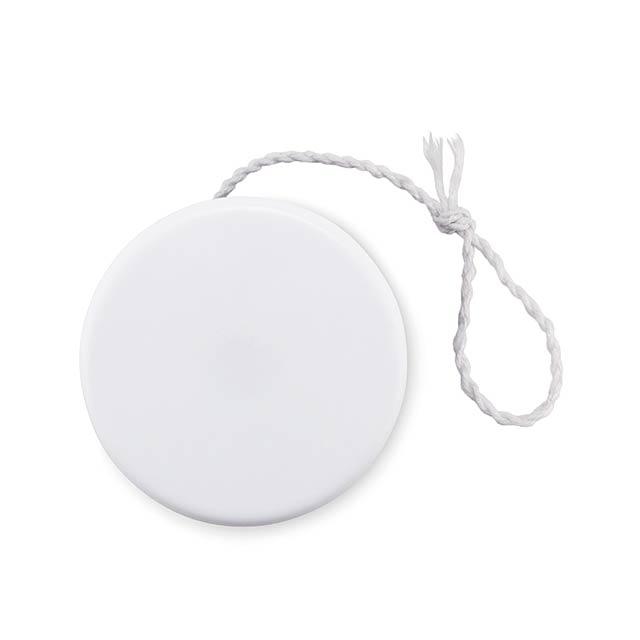 Plastic yoyo - FLATYO - white