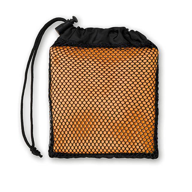 Sportovní ručník s obalem - TUKO - oranžová