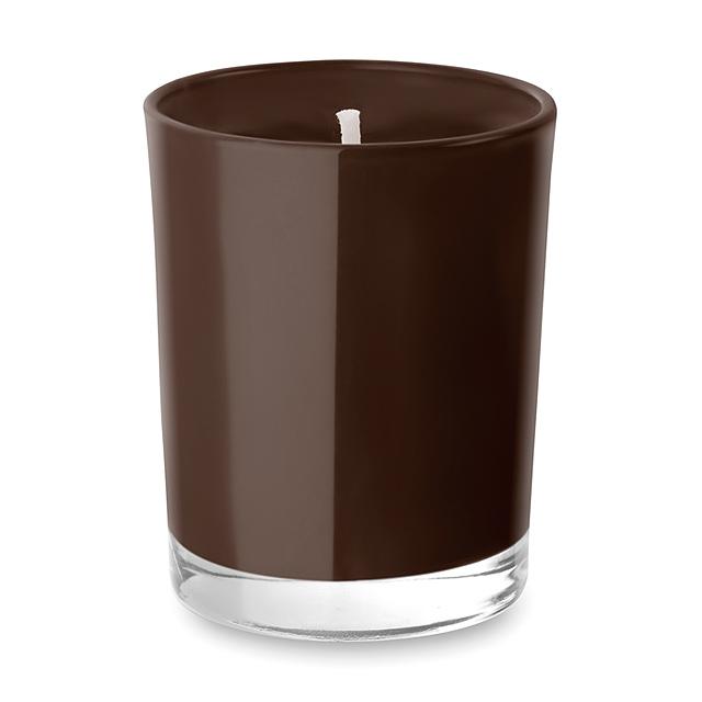 Malá svíčka ve skleničce - SELIGHT - hnědá