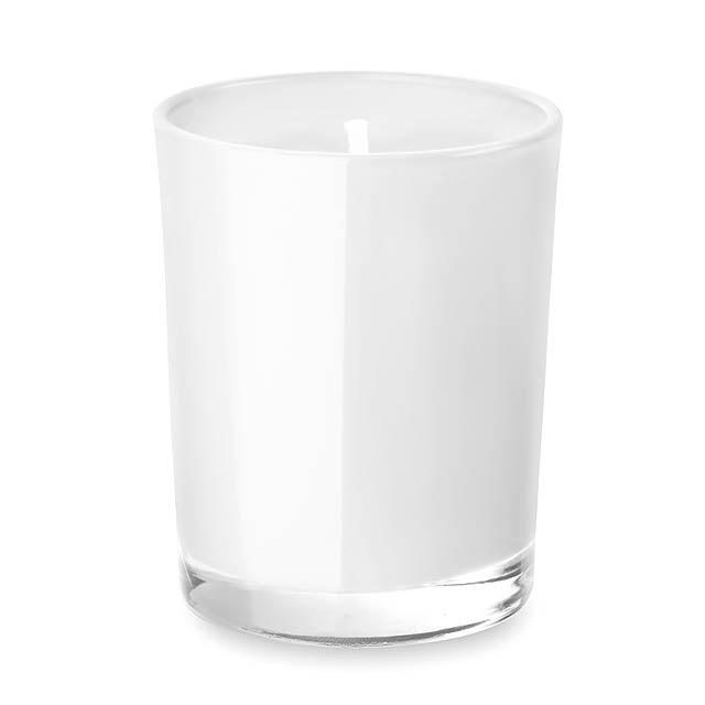 Malá svíčka ve skle- SELIGHT - bílá